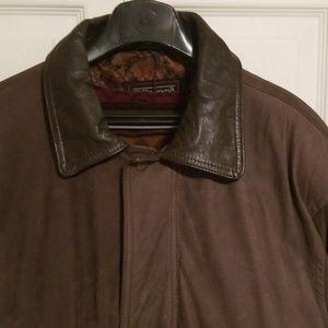 Verri Pelle Suede Leather Coat